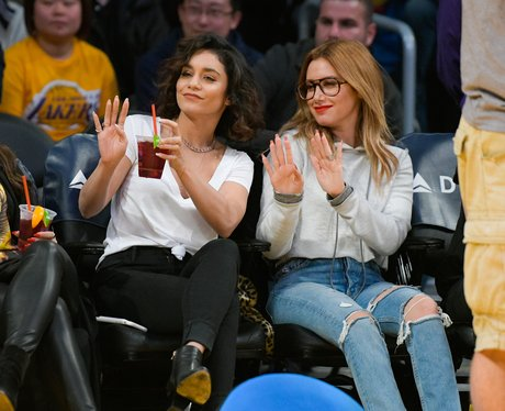 Vanessa Hudgens and Ashley Tisdale have a High Sch