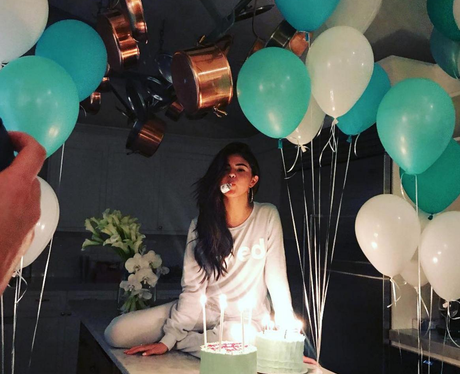 Selena Gomez celebrates her 25th birthday